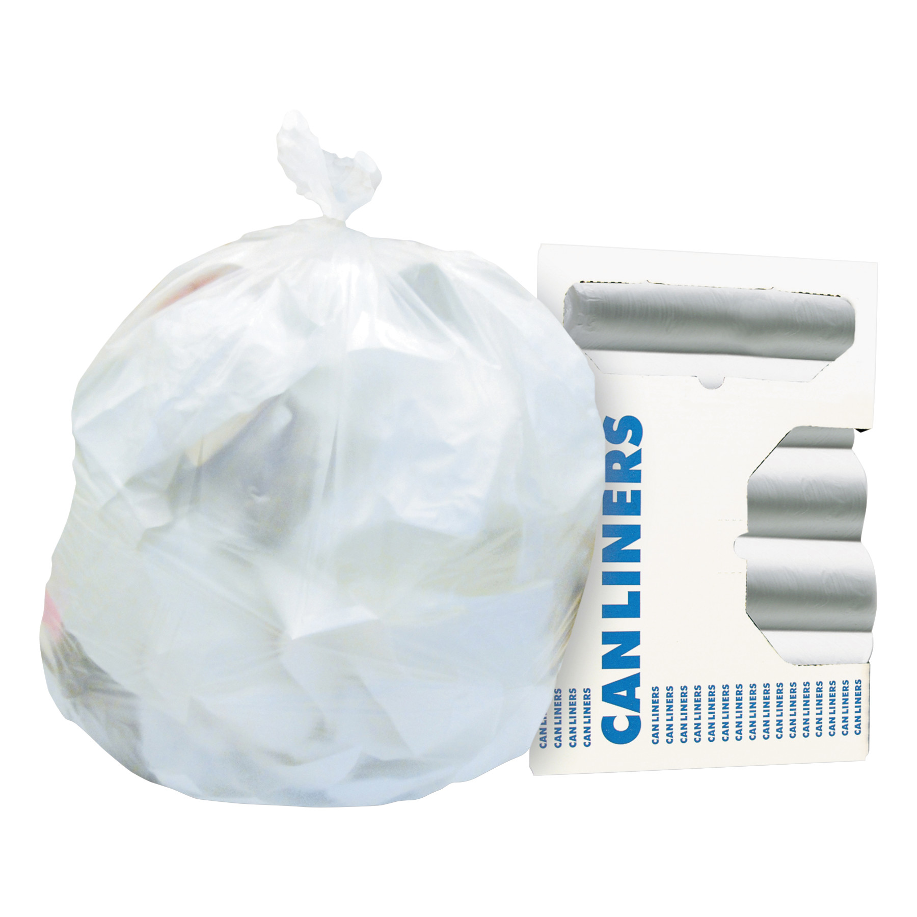 Heritage High-Density Coreless Trash Bags, 33 gal, 12 mic, 33 x 40, Natural, 500/Carton