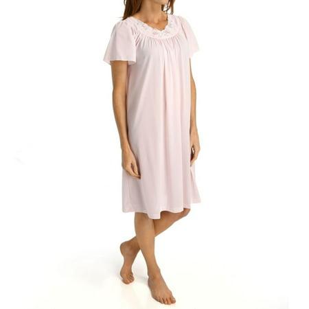 Women's Shadowline 36280 Petals Short Sleeve (Seeing Blue Tint)