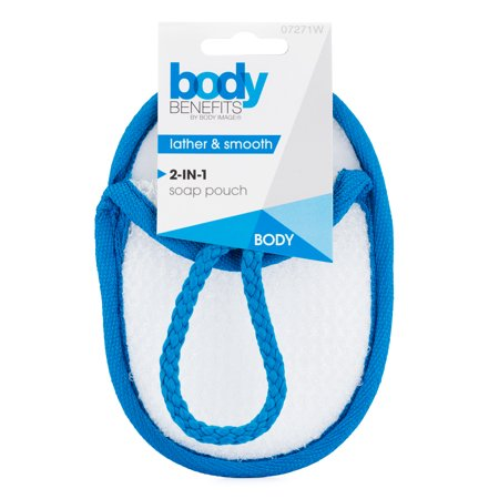 (6 Pack) Body Benefits by Body Image 2-in-1 Loofah Body Buff