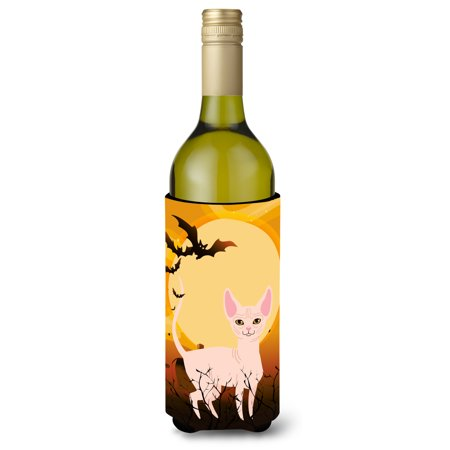 Halloween Sphynx Cat Wine Bottle Beverge Insulator Hugger BB4457LITERK
