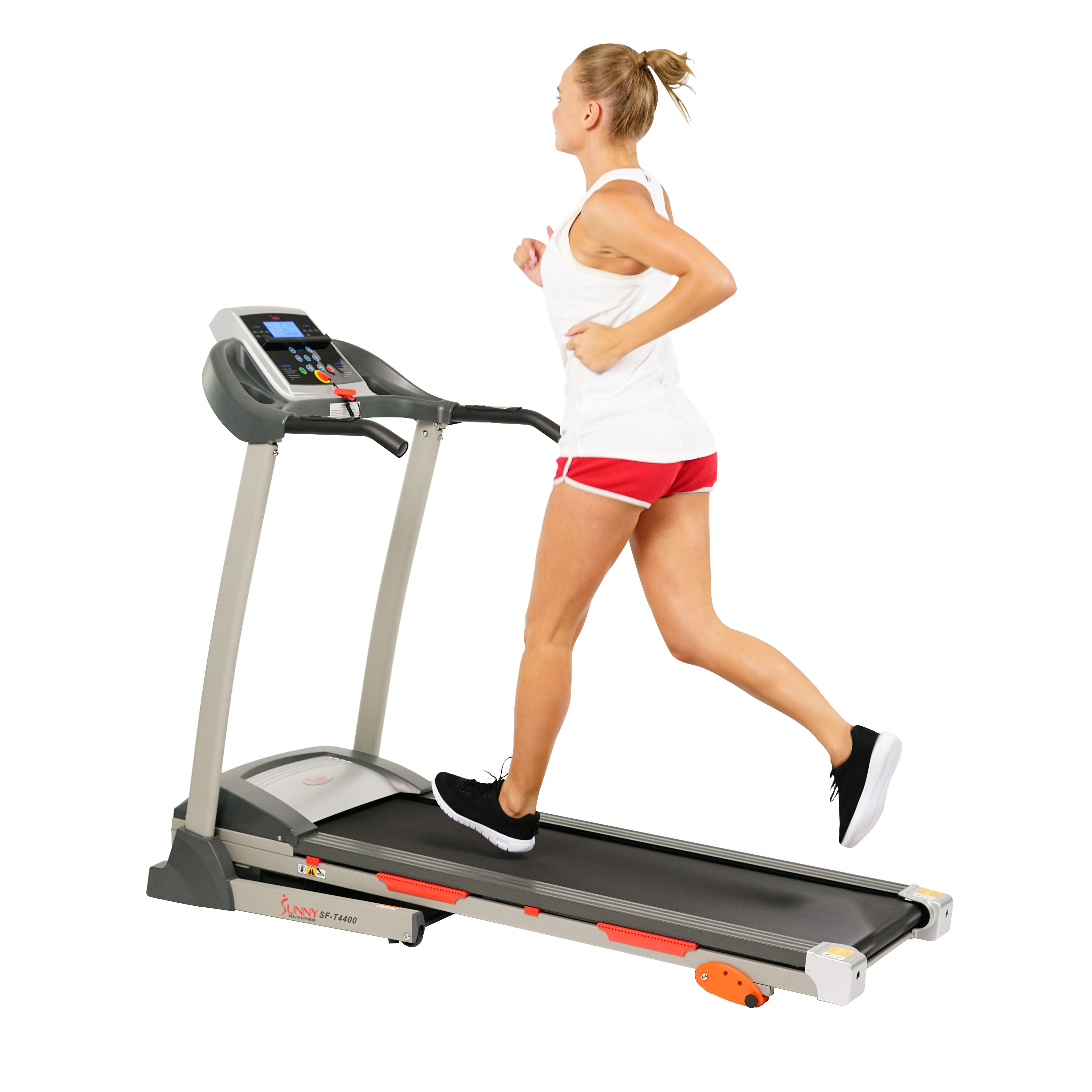 Sunny Health & Fitness SF-T4400 Treadmill w/ Manual Incline and LCD Display