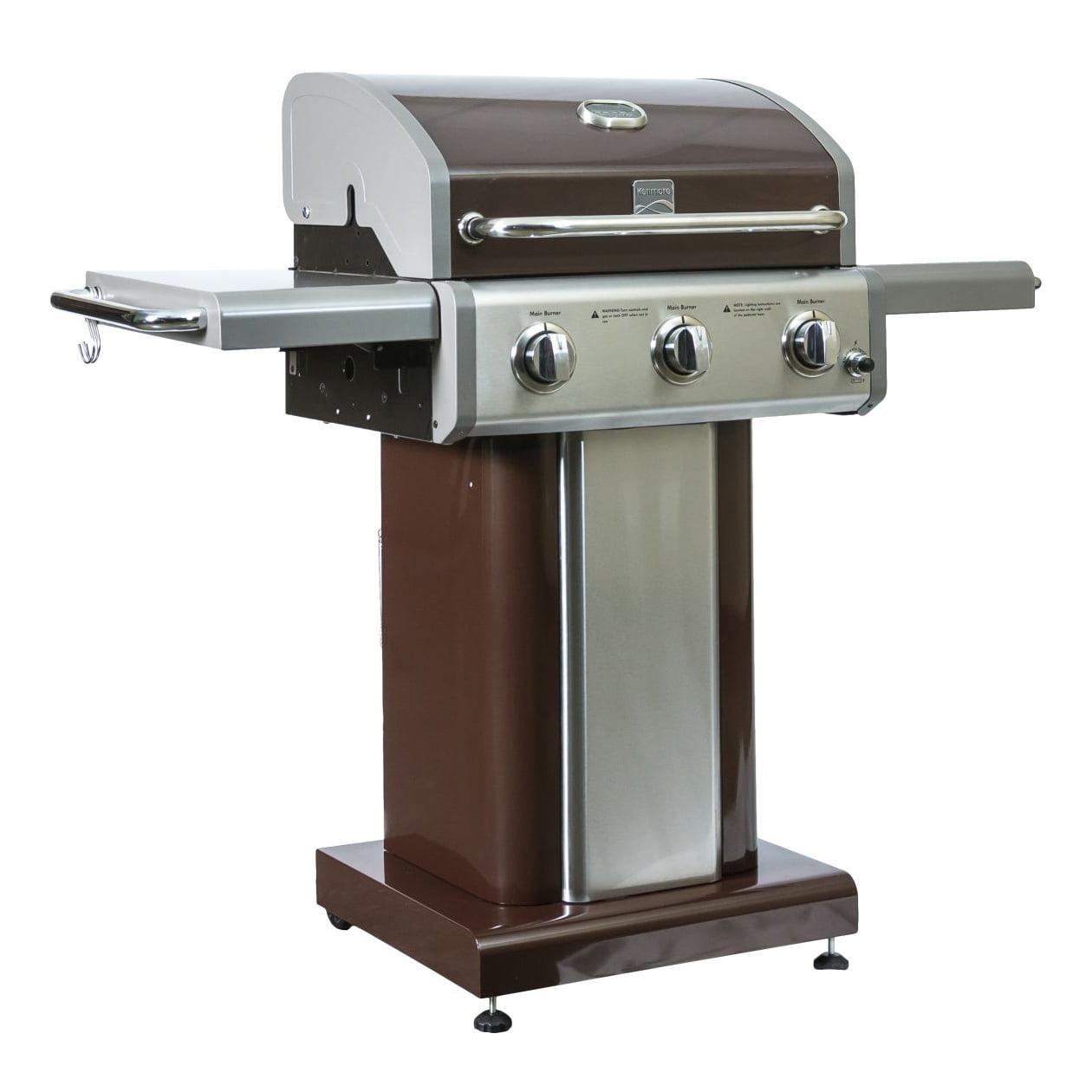 Kenmore 3 Burner 30000 BTU Propane Patio BBQ Pedestal ...