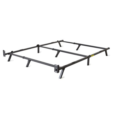 intelliBASE Low Profile Adjustable Twin Full Queen Box Spring Metal Bed Frame