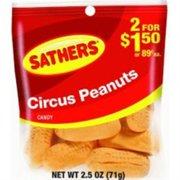 Sathers Circus Peanuts 12 pack (2.5oz per pack) (Pack of 3)