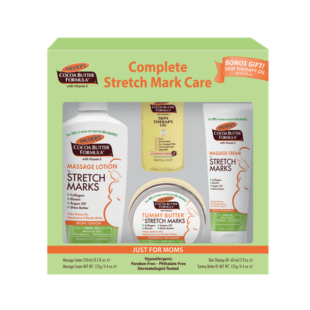 Palmer's Cocoa Butter Formula with Vitamin E Complete Stretch Mark Care Set, 4