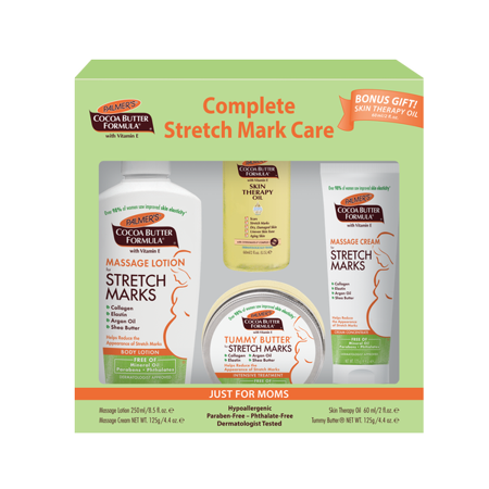 Palmer's Cocoa Butter Formula with Vitamin E Complete Stretch Mark Care Set, 4 (Best Skincare For Pregnancy Stretch Marks)