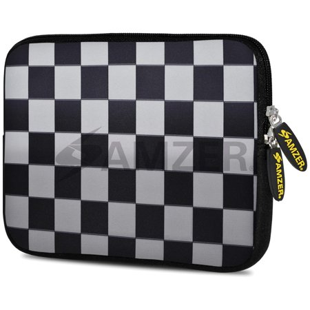Designer 10.5 Inch Soft Neoprene Sleeve Case Pouch for Samsung Galaxy Tab A 10.1 2016, Tab 4 10.1, LG G Pad X 10.1, ASUS ZenPad Z300M 10.1, Fire HD 10 Tablet - Chess