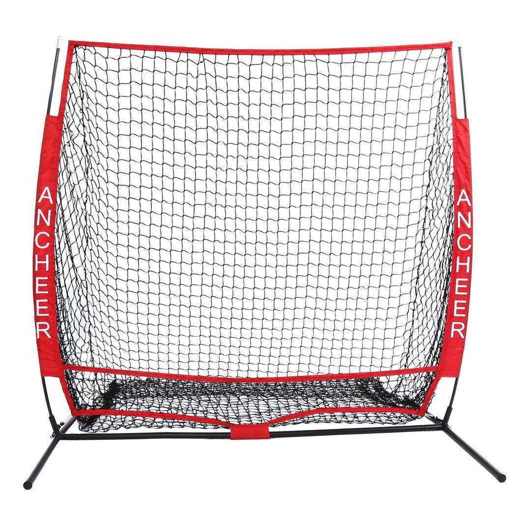 Big Saving for 5 x 5ft Baseball Softball Practice Net Strike Zone Target with Bow Frame & Carry Bag YASTE by
