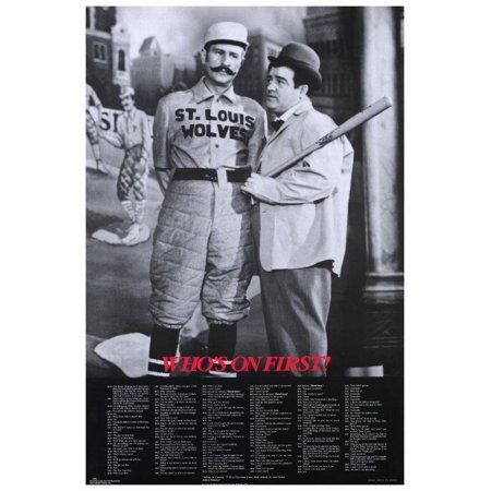 Abbott & Costello - Who's On First POSTER (27x40)