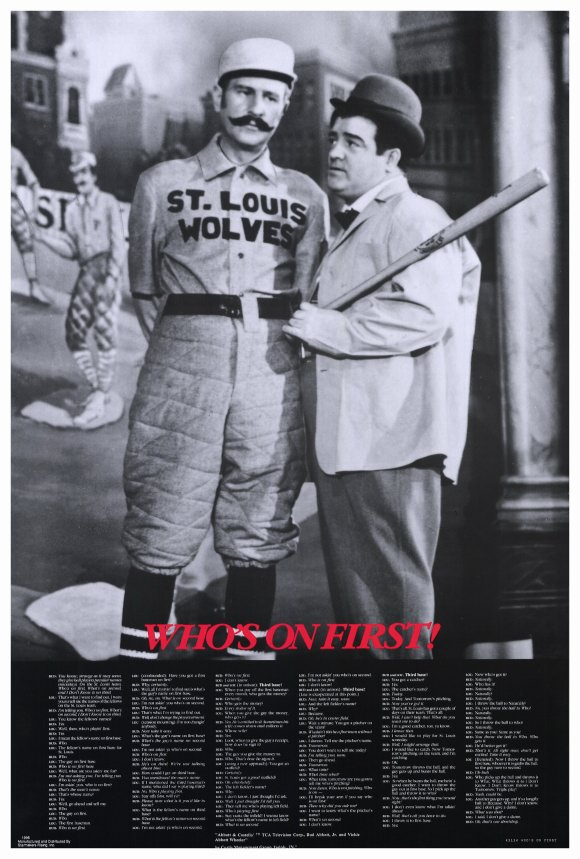 Abbott & Costello Who's On First 27x40 Movie Poster by Pop Culture Graphics