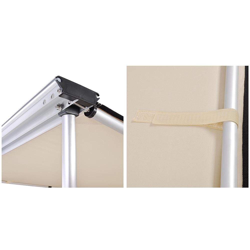 Yescom 8.2x8.2 Car Side Awning Rooftop Pull Out Tent Shelter PU2000mm UV50 Shade SUV Outdoor Camping Travel Beige
