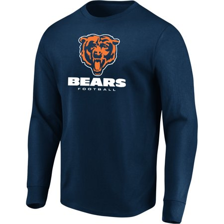 Men's Majestic Navy Chicago Bears Our Team Long Sleeve