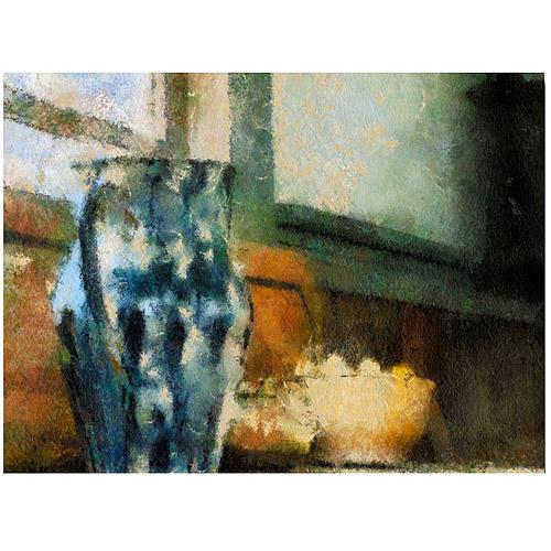 "Trademark Fine Art ""Still Life with Blue Jug"" Canvas Wall Art by Lois Bryan"