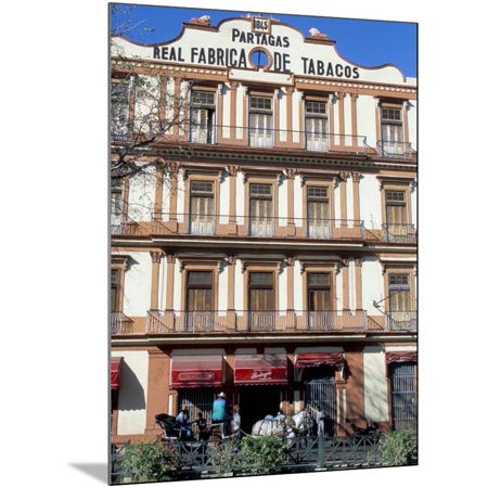 Real Fabrica De Tabacos Partagas, Cuba's Best Cigar Factory, Havana, Cuba Wood Mounted Print Wall Art By R H