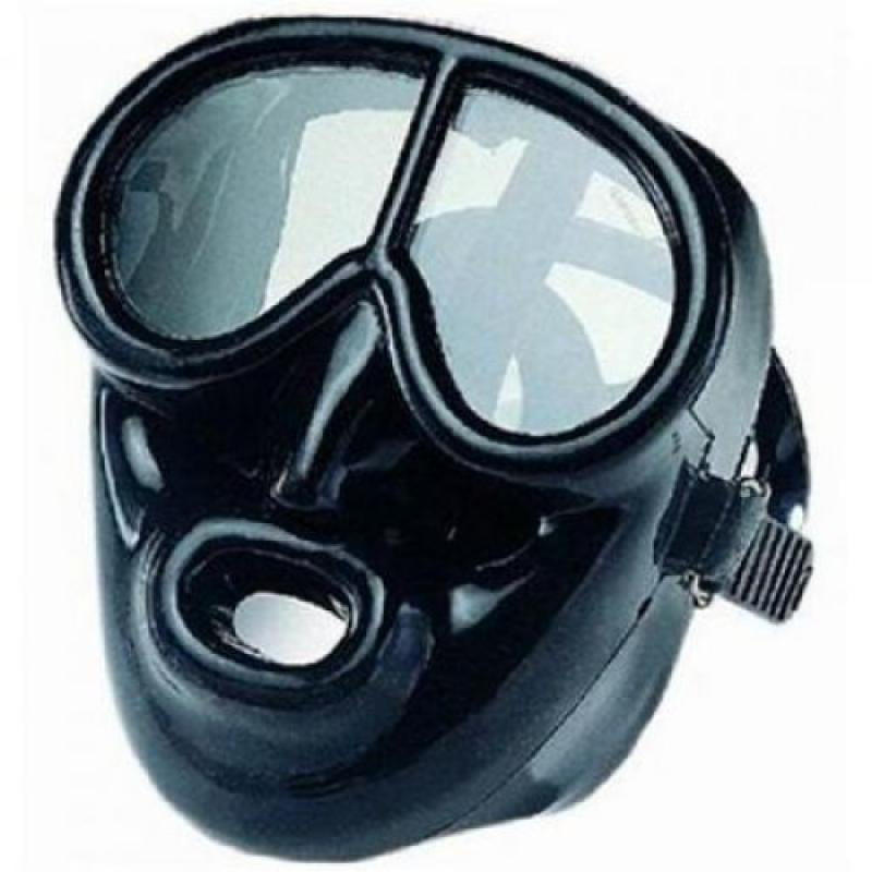 Full Face Black Rubber Dive Mask Scuba Mask by IST