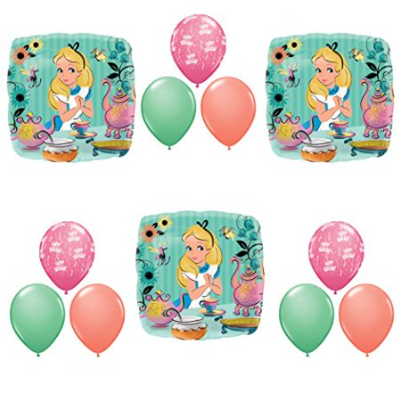ALICE IN WONDERLAND Tea Birthday Party Balloons Decoration Supplies - Alice In Wonderland Birthday Decorations