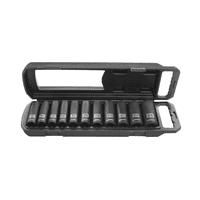 HART 11-Piece 1/2-inch Drive MM Impact Socket Set, Chrome Vanadium Steel