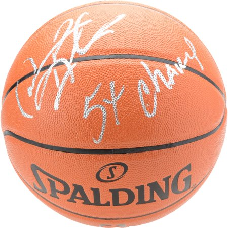 Dennis Rodman Chicago Bulls Autographed Spalding Indoor/Outdoor Basketball With 5X NBA Champ Inscription - Fanatics Authentic Certified