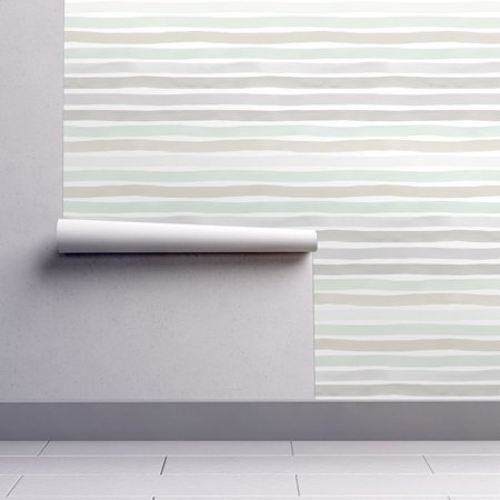 Peel-and-Stick Removable Wallpaper Horizontal Hand Painted Horizontal Gray (Hand Painted Gravy)