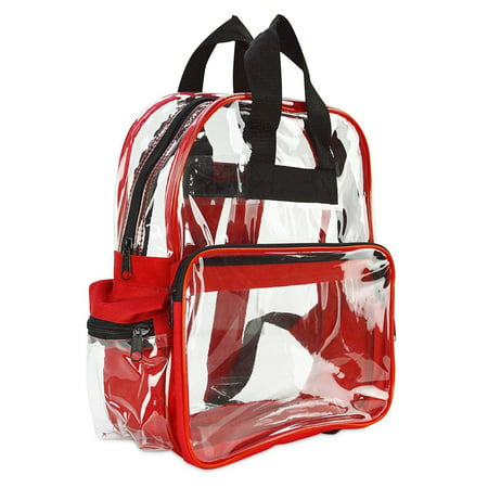 Clear Backpack Camping Hiking Daypacks NFL Sports Events Approved Backpack, Music Events Backpack, Custom Clear CBP School Backpack Transparent Backpacks, Laptop Backpack (Clear - 15