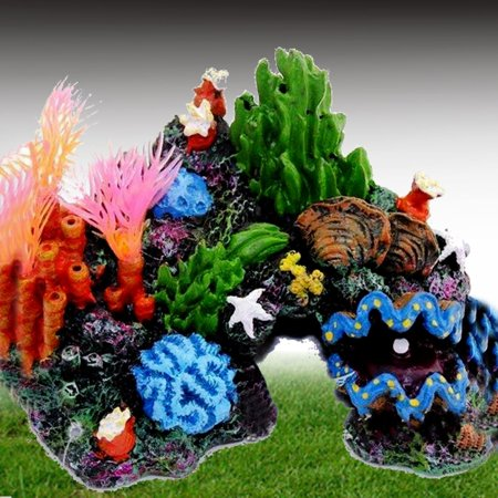 14cm Aquarium Mountain Coral Reef Rock Cave Stone Fish Tank Ornament