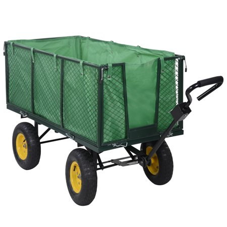 Costway Large Collapsible Utility Wagon Garden Cart Shopping Buggy ...