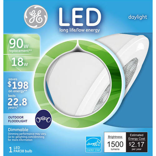 GE 90-Watt Equivalent PAR38 Daylight LED Reflector, 1-Pack