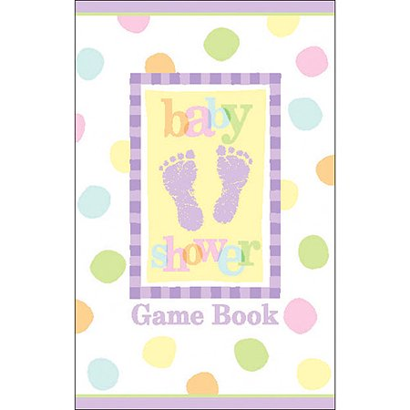 Baby shower game book baby steps for Baby shower game booklet template