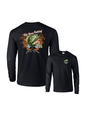 7ccaae553e Product Image Big Bass Fishing Living The Reel Life Long Sleeve T-Shirt