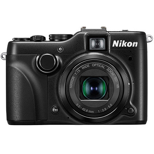 "Nikon COOLPIX P7100 Black 10.1MP Digital Camera w/ 7x Optical Zoom Lens, 3"" LCD Display, HD Video, Tilting Display"