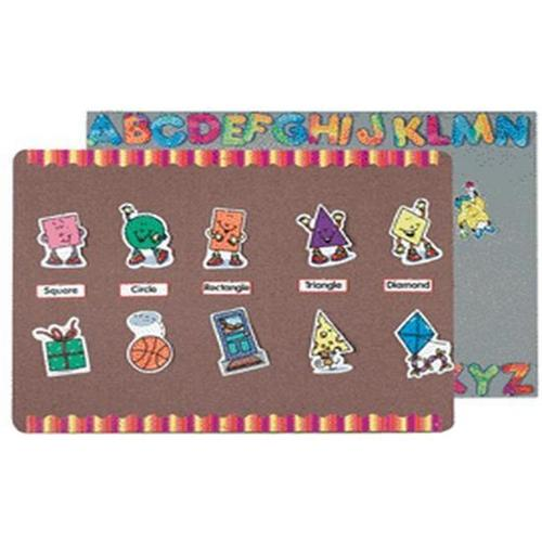 AARCO Products SF1824012 Grey Mix Fabric Wrapped Display Board