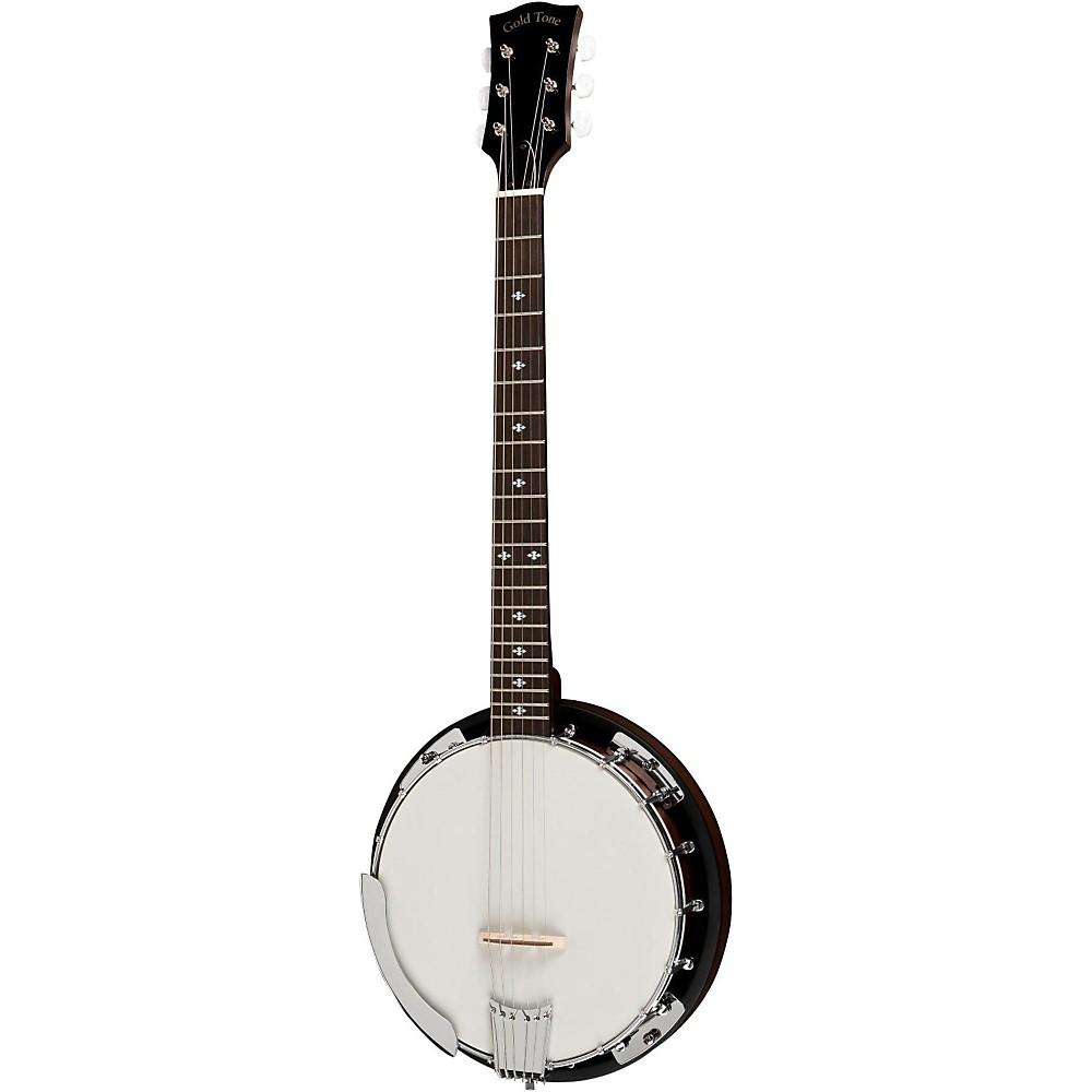 Gold Tone CC-Banjitar Cripple Creek Banjo (Six String, Vintage Brown)