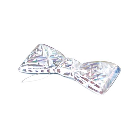 Silver Mylar Cool Bow Tie Butler Doctor Gangster Clown Nerd Costume Accessory - Gangster Clown