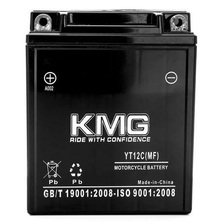 KMG 1988 Honda VF750C V45 Magna YT12C Sealed Maintenance Free Battery 12V Powersport Motorcycle Scooter ATV - image 2 of 3