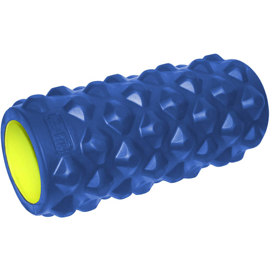 "GoFit Extreme Massage Roller, 13"", Blue/Green"