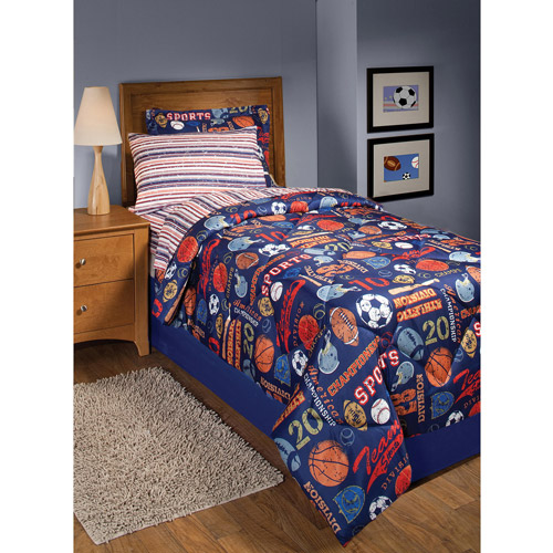 In Style Retro Sports Bed In A Bag Bedding Set   Walmart.com
