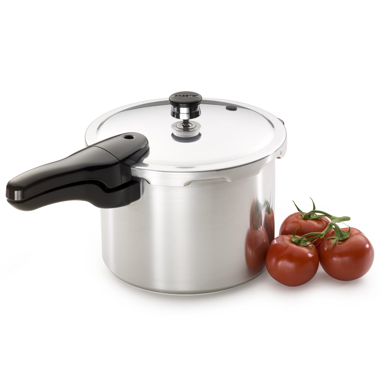 Presto 6-Quart Aluminum Pressure Cooker 01264 by National Presto Industries