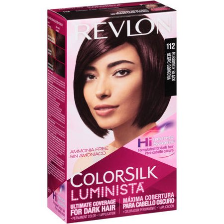 Revlon colorsilk luminista 112 burgundy black permanent hair color, 1 -