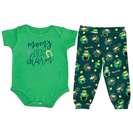 Unique Baby Boys 1st ST Patricks Day Moms Lucky Charm Layette Set - Mother Day Crafts For Toddlers