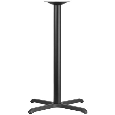 Flash Furniture 30'' x 30'' Restaurant Table X-Base with 3''D Bar Height Column Restaurant Table Base