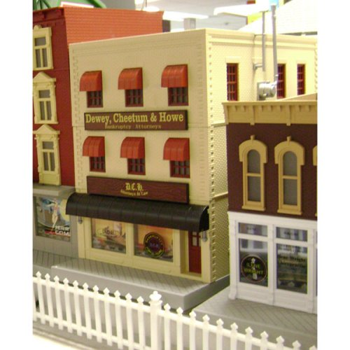 O Dewey Cheetum & Howe w/Blinking Sign 3-Story MTH3090154