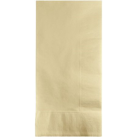 Touch of Color Dinner Napkins, 2-Ply, 1/8 Fold, Ivory, 100 Ct ()