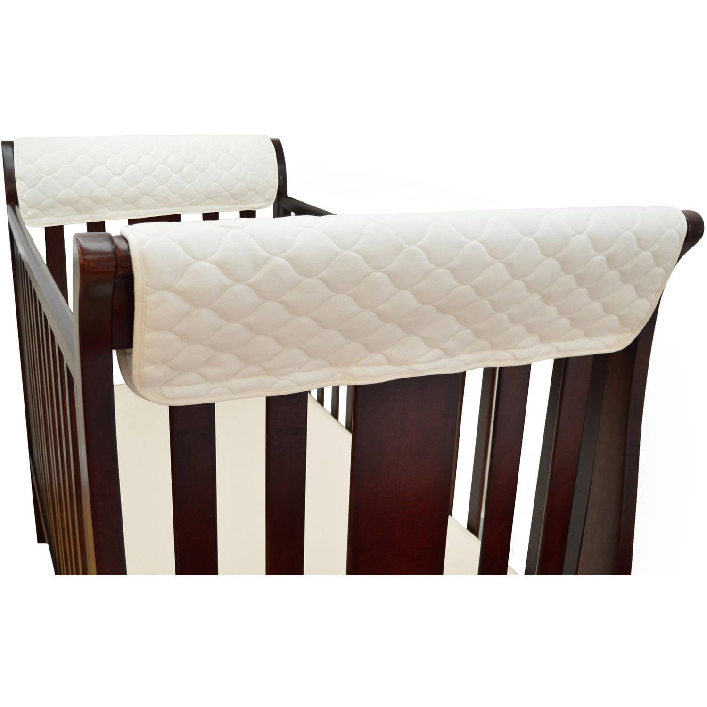 TL Care Organic Cotton Front Crib Rail Cover, Natural