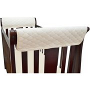 TL Care Side Crib Rail Covers Made with Organic Cotton (Twin Pack)