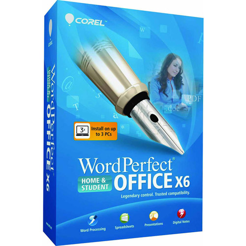 Corel Wordperfect Office X6 Home and Student Edition (Academic verification is required by publisher after purchase) (Windows)(Digital Code)