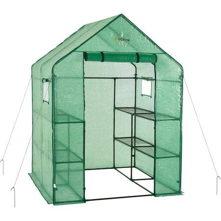 Image of Ogrow - 2-Tier 8-Shelf - Portable Walk-In Greenhouse - Deluxe