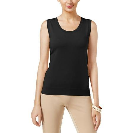 August Silk Womens Silk Blend Jewel Neck Pullover
