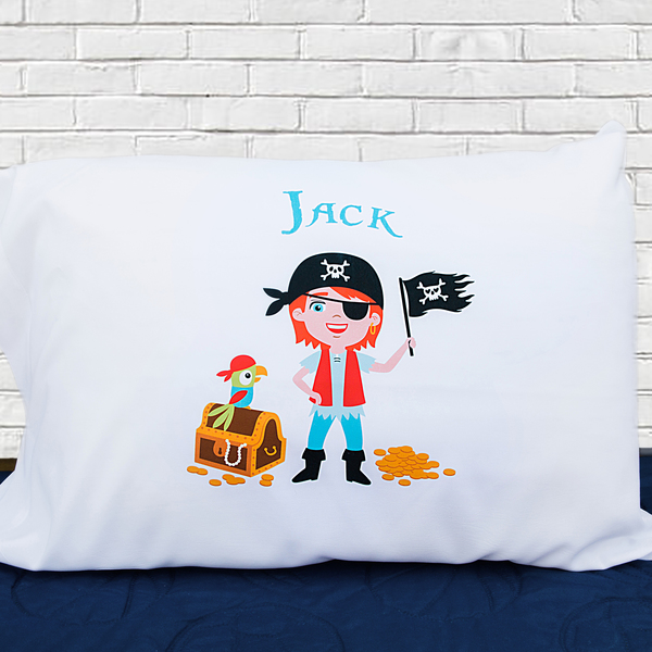 Personalized Boy Pirate Pillowcases - Jack Design