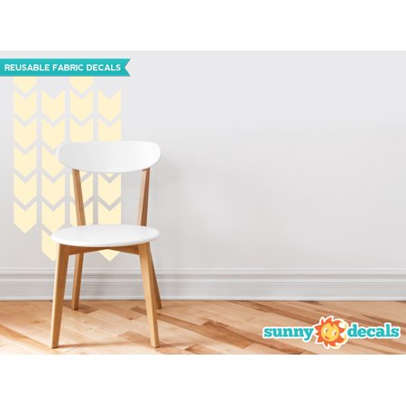 - Chevron Arrows Fabric Wall Decals - Set of 26 Chevron Pattern Decals - 19 Color Options-Ivory/