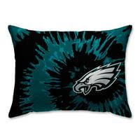 Philadelphia Eagles Tie Dye Plush Bed Pillow - Green